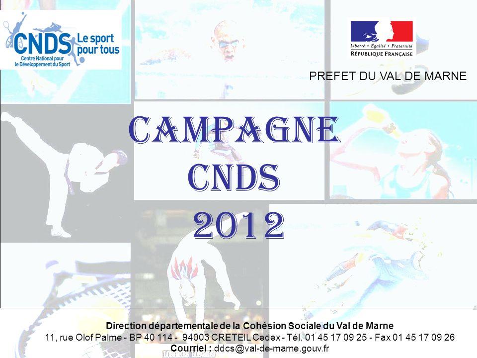 CAMPAGNE CNDS 2012 PREFET DU VAL DE MARNE