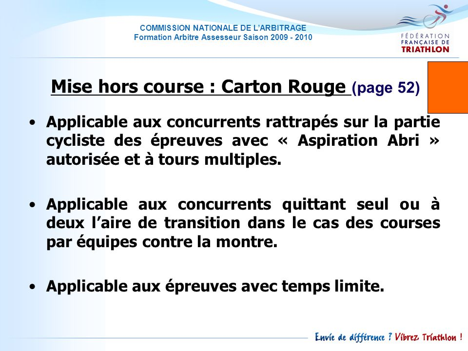 Mise hors course : Carton Rouge (page 52)
