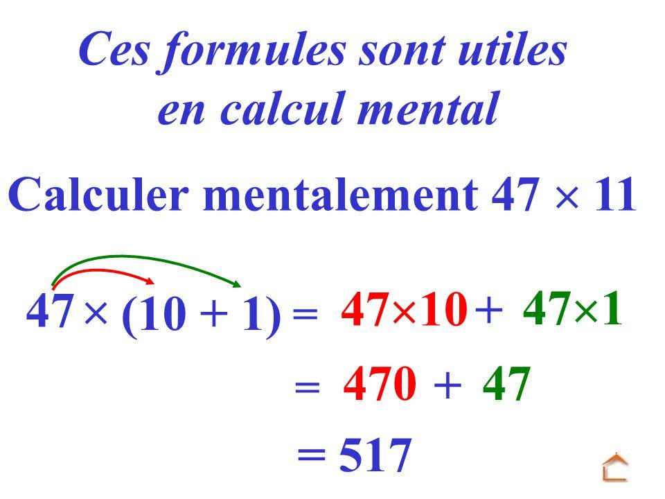 Ces formules sont utiles