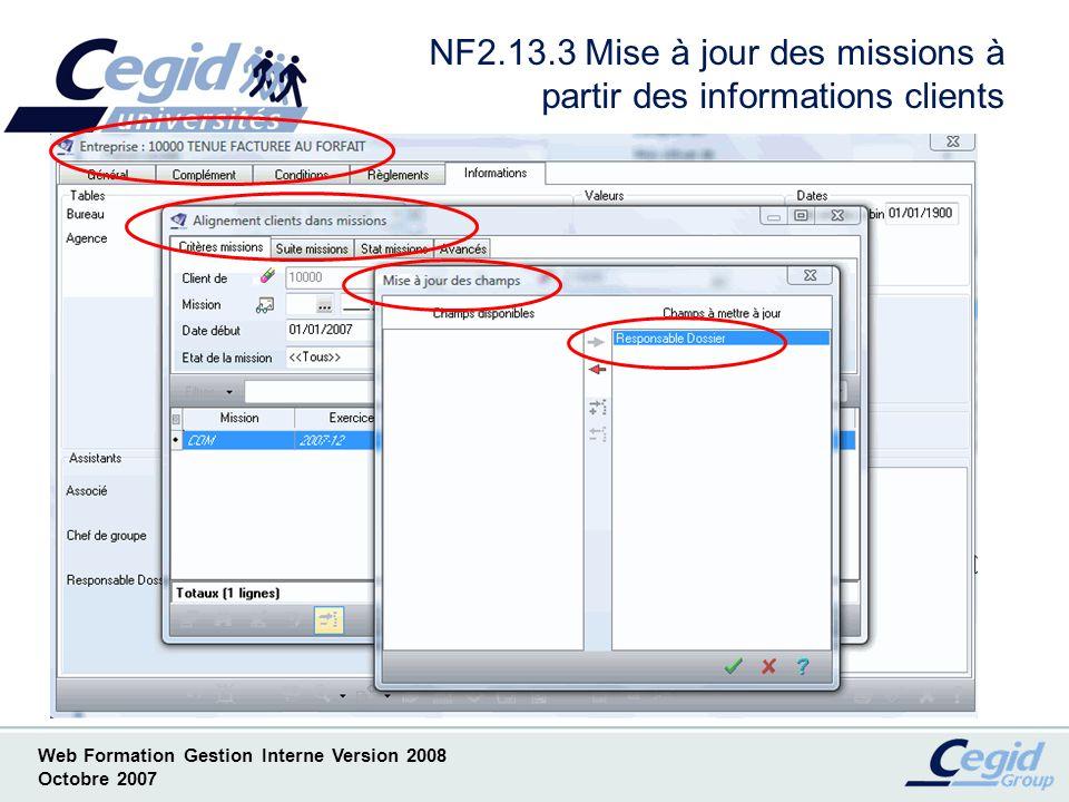 NF2.13.3 Mise à jour des missions à partir des informations clients