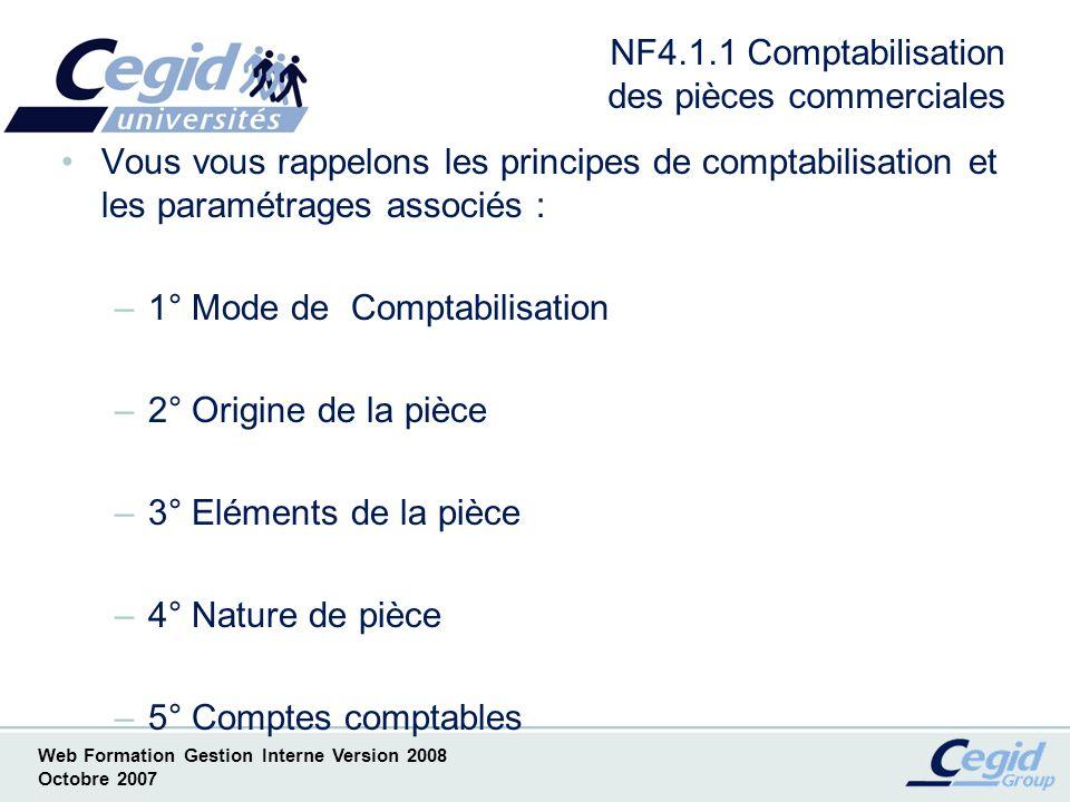 NF4.1.1 Comptabilisation des pièces commerciales