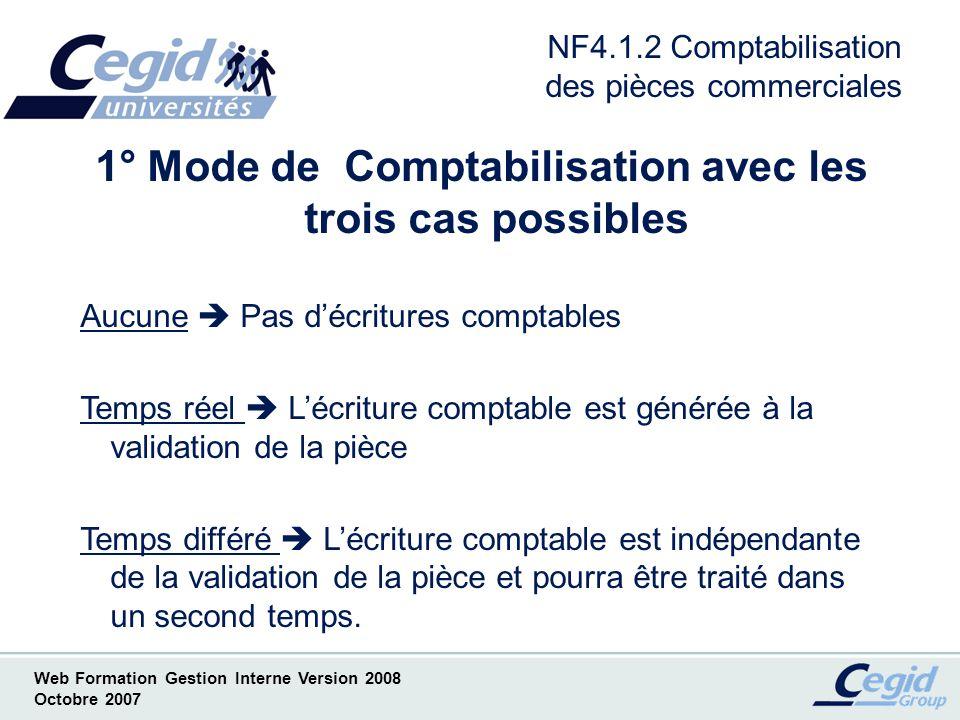 NF4.1.2 Comptabilisation des pièces commerciales