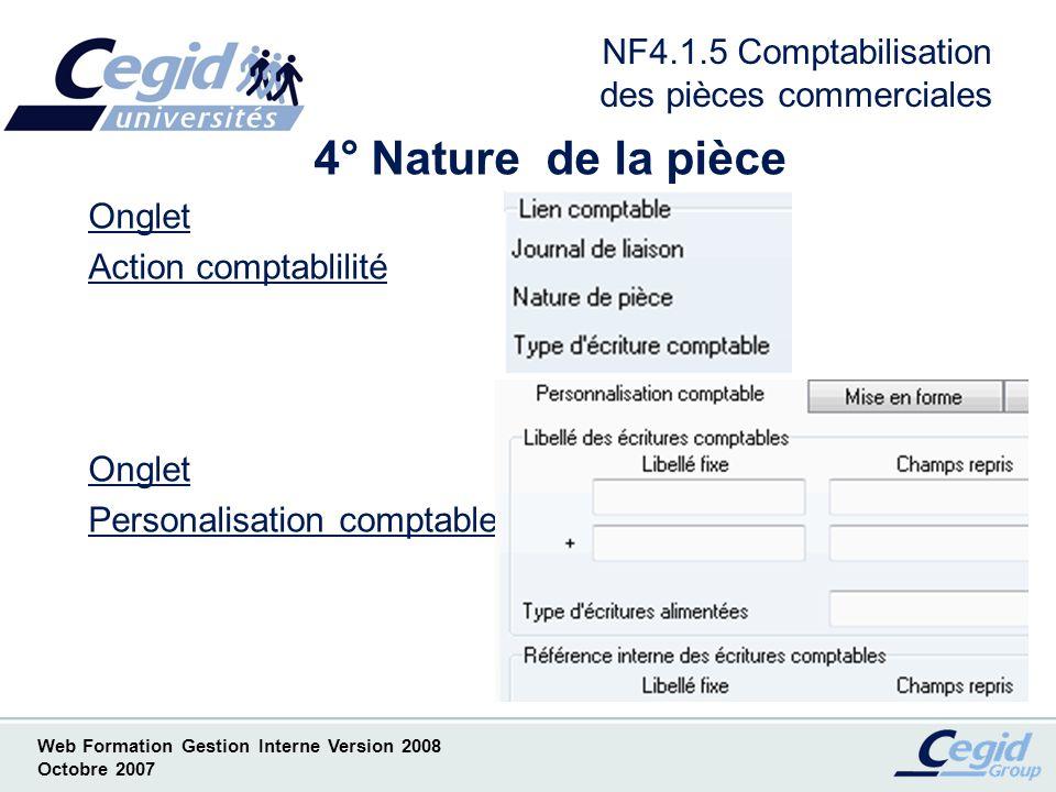NF4.1.5 Comptabilisation des pièces commerciales
