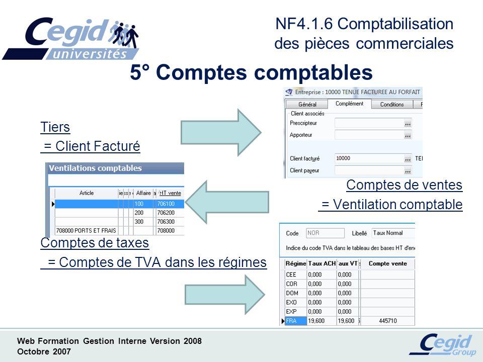 NF4.1.6 Comptabilisation des pièces commerciales