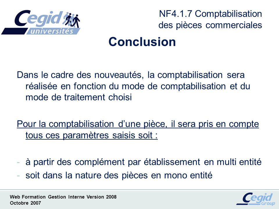 NF4.1.7 Comptabilisation des pièces commerciales