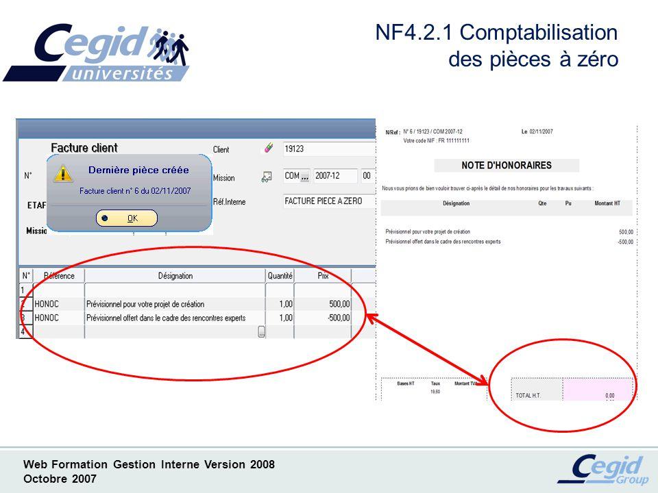 NF4.2.1 Comptabilisation des pièces à zéro