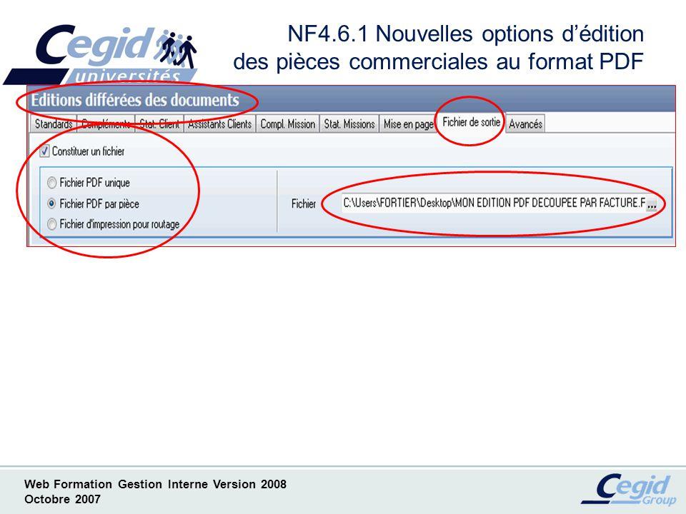 NF4.6.1 Nouvelles options d'édition des pièces commerciales au format PDF