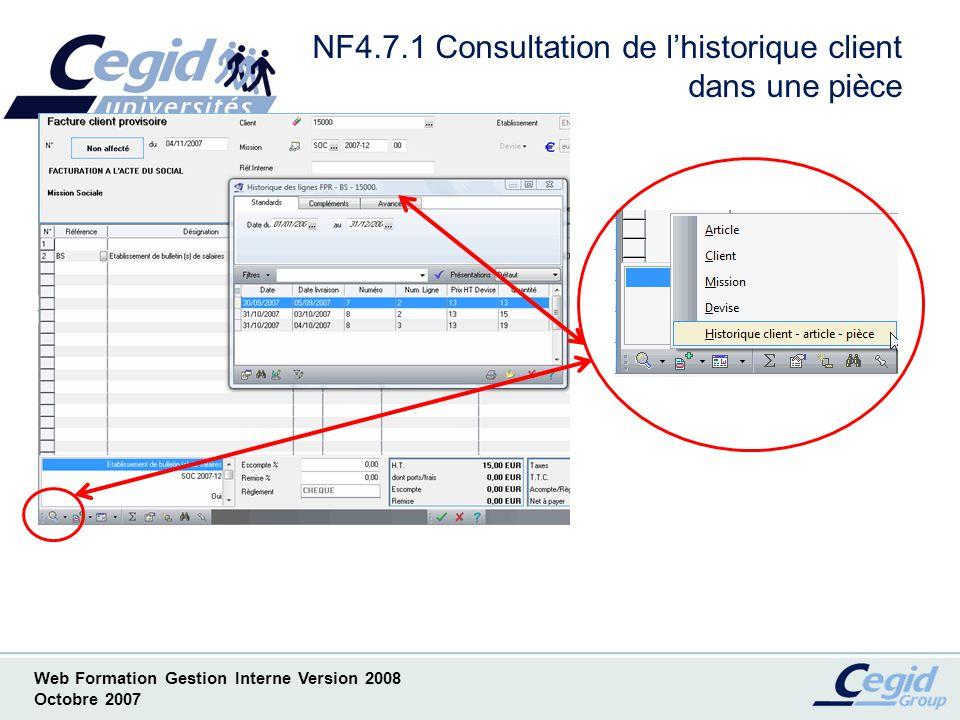 NF4.7.1 Consultation de l'historique client dans une pièce