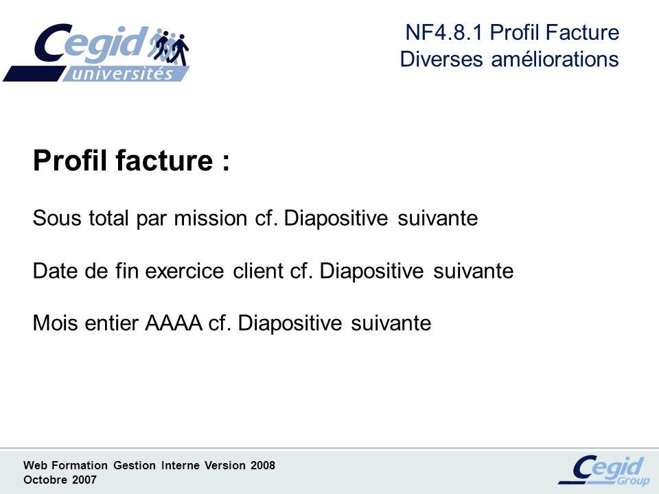 NF4.8.1 Profil Facture Diverses améliorations