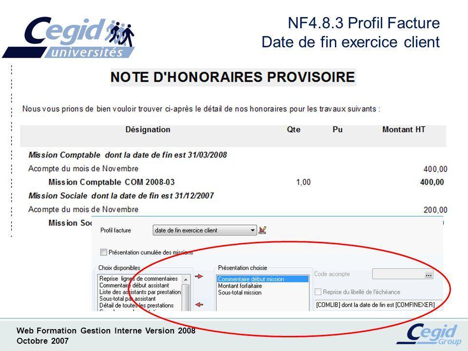 NF4.8.3 Profil Facture Date de fin exercice client