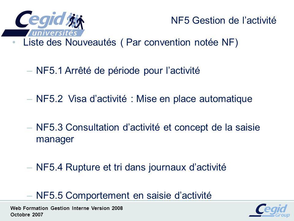 NF5 Gestion de l'activité