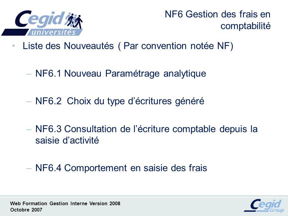 NF6 Gestion des frais en comptabilité