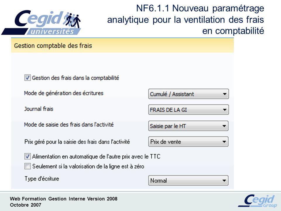 NF6.1.1 Nouveau paramétrage analytique pour la ventilation des frais en comptabilité