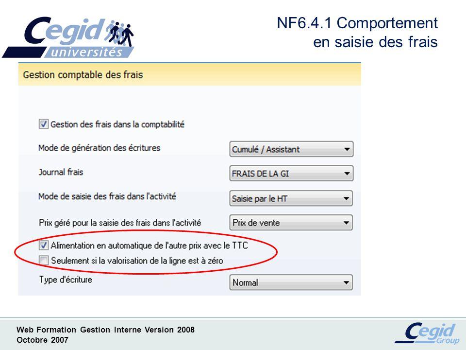 NF6.4.1 Comportement en saisie des frais