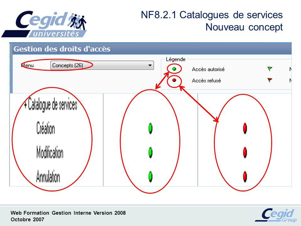 NF8.2.1 Catalogues de services Nouveau concept
