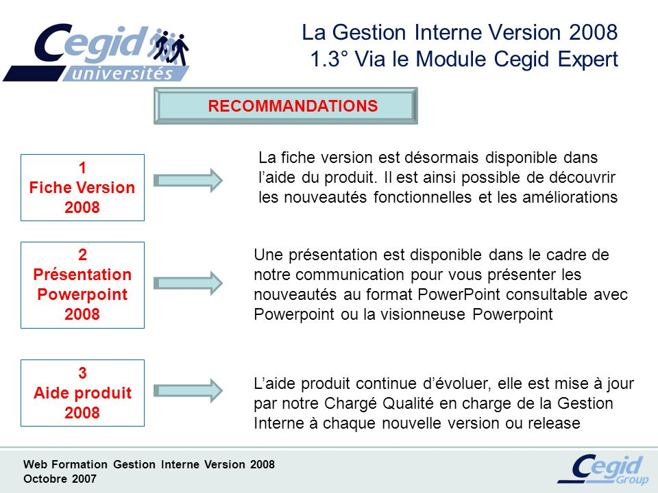 La Gestion Interne Version 2008 1.3° Via le Module Cegid Expert