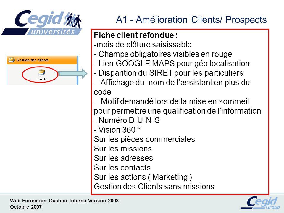 A1 - Amélioration Clients/ Prospects