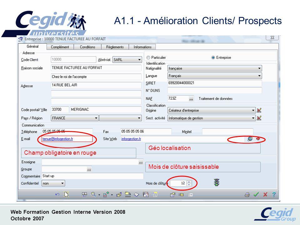 A1.1 - Amélioration Clients/ Prospects