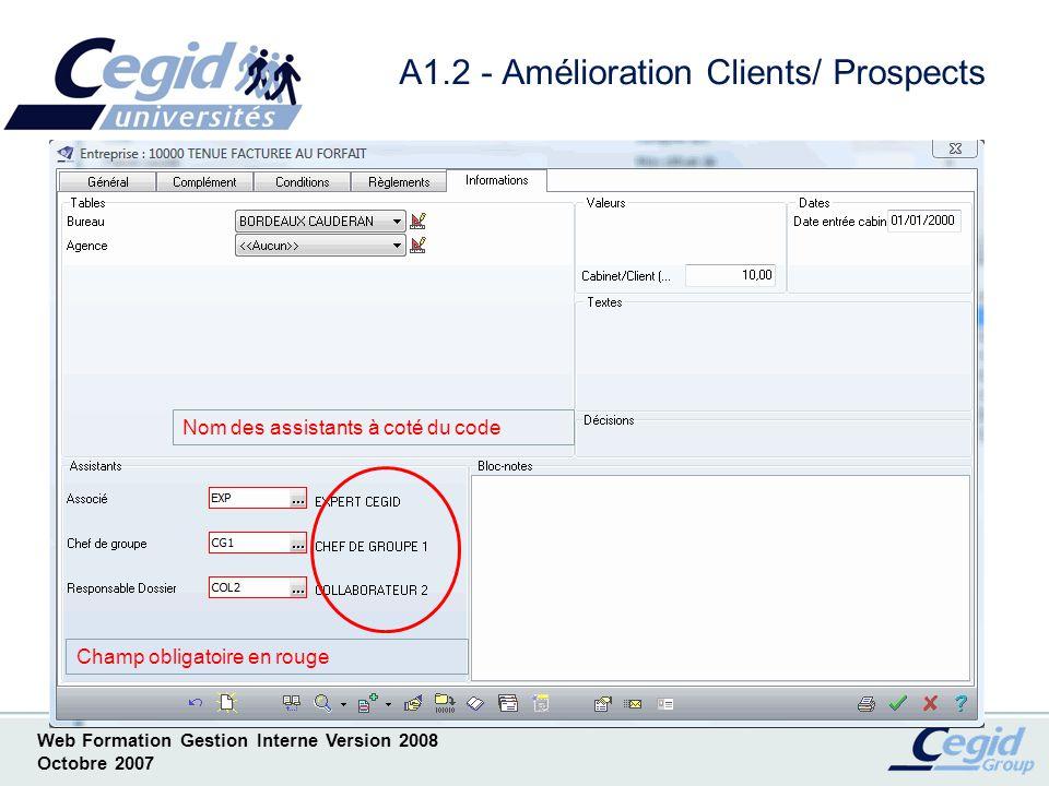 A1.2 - Amélioration Clients/ Prospects
