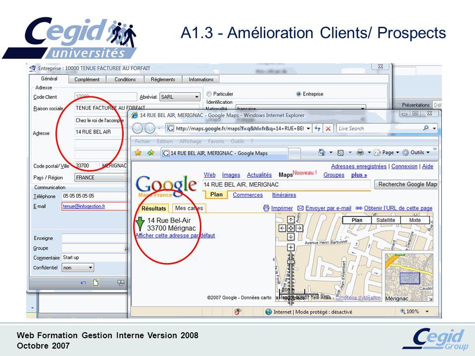 A1.3 - Amélioration Clients/ Prospects