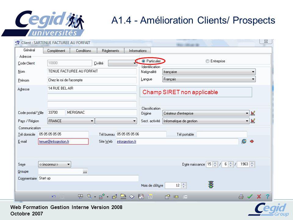 A1.4 - Amélioration Clients/ Prospects