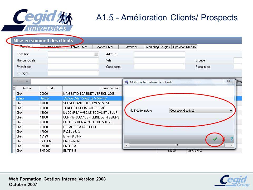 A1.5 - Amélioration Clients/ Prospects