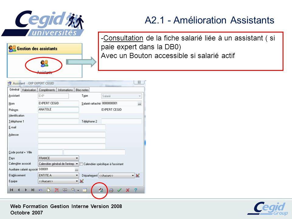 A2.1 - Amélioration Assistants