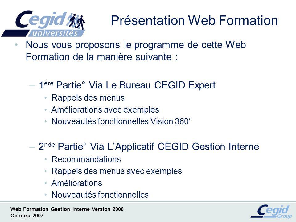 Présentation Web Formation