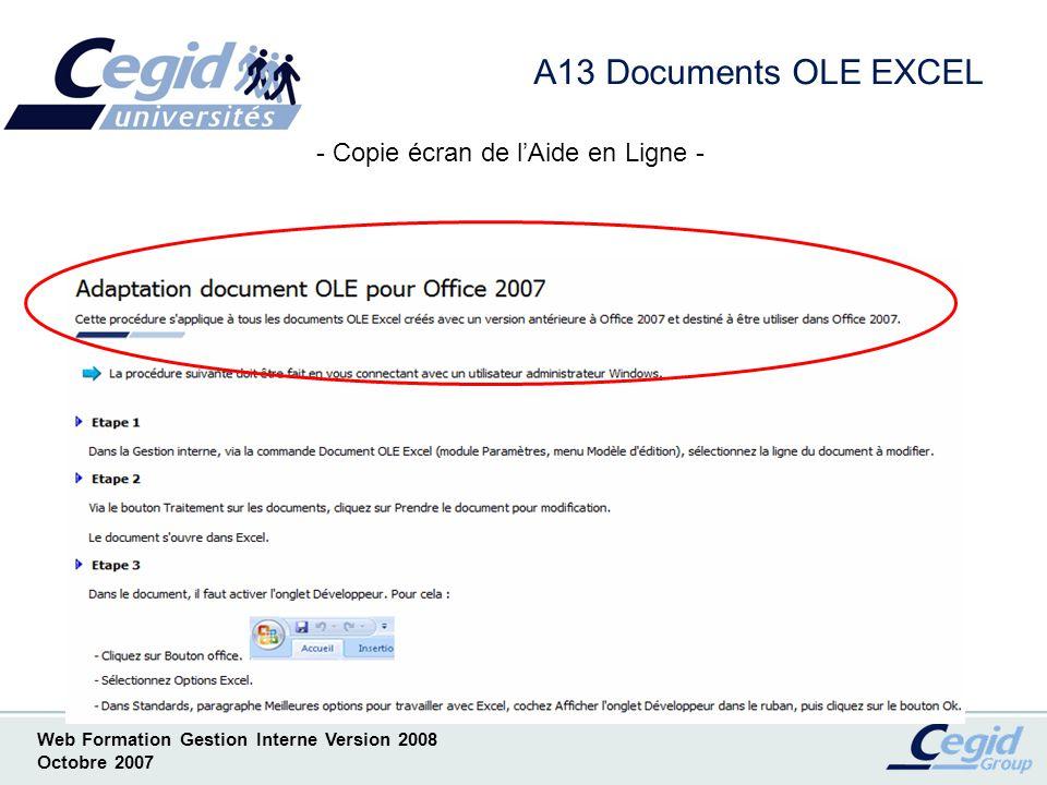 - Copie écran de l'Aide en Ligne -
