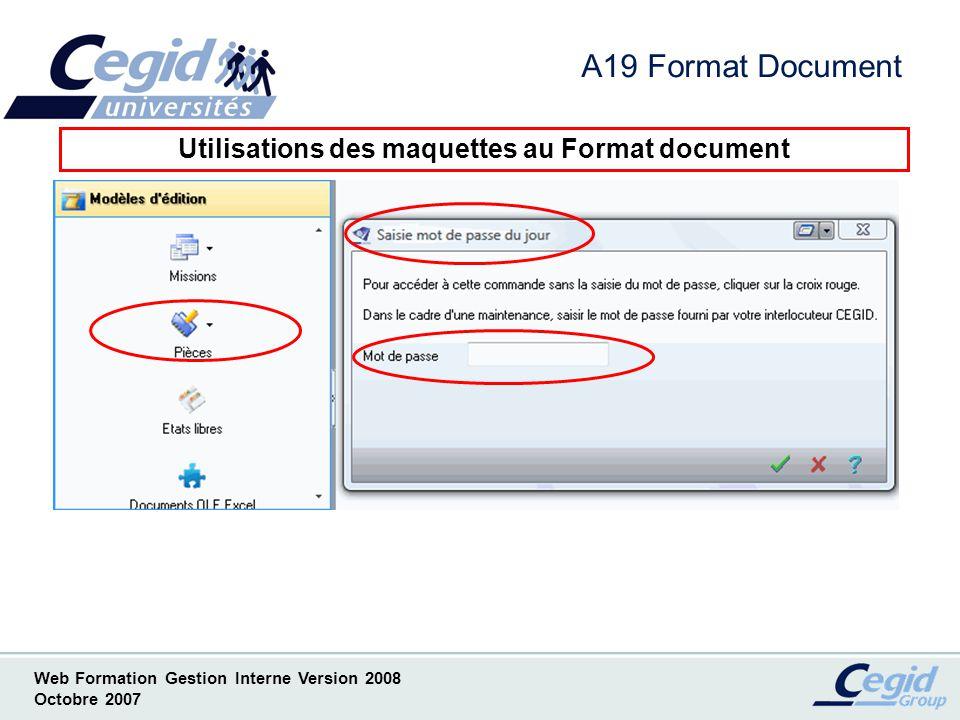 Utilisations des maquettes au Format document