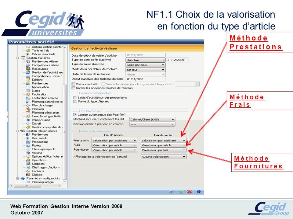 NF1.1 Choix de la valorisation en fonction du type d'article