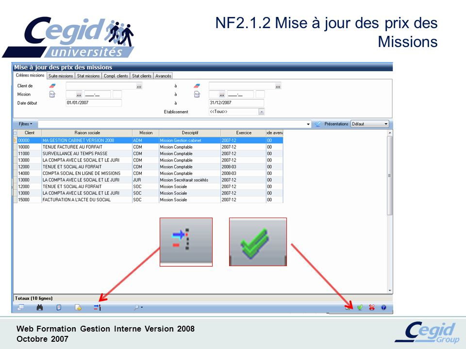 NF2.1.2 Mise à jour des prix des Missions