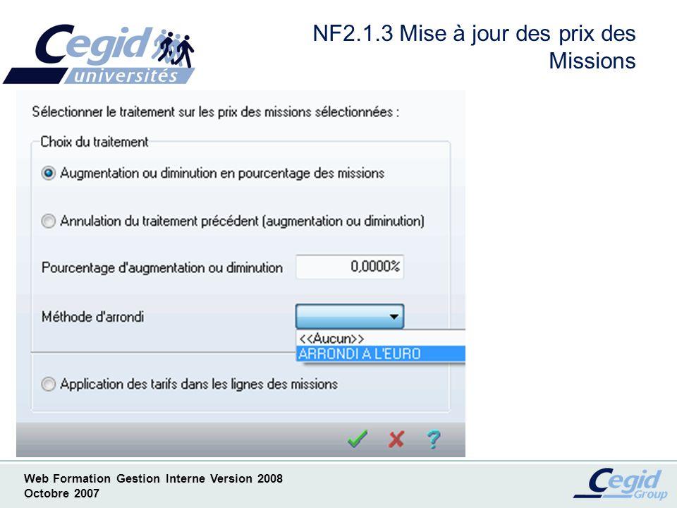 NF2.1.3 Mise à jour des prix des Missions