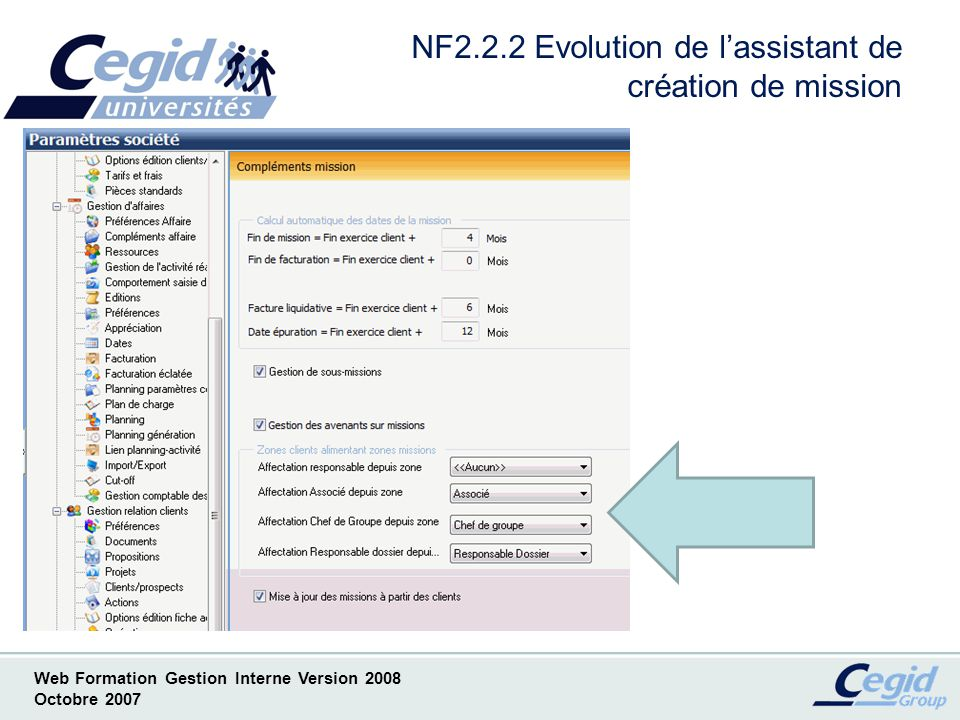NF2.2.2 Evolution de l'assistant de création de mission