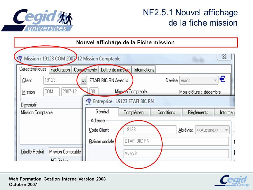 NF2.5.1 Nouvel affichage de la fiche mission