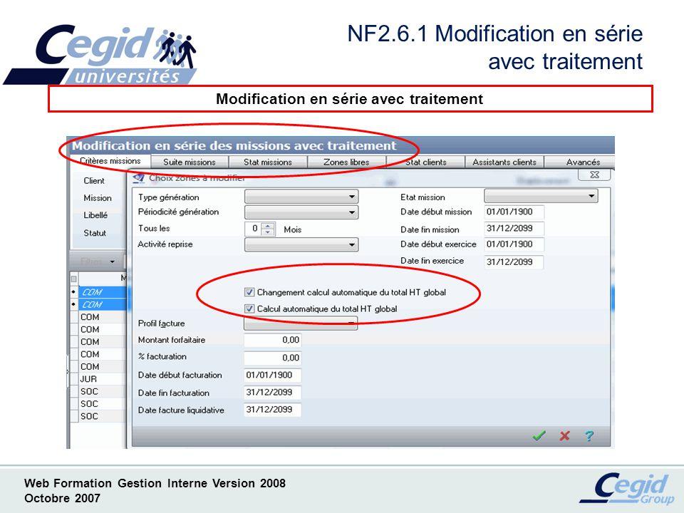 NF2.6.1 Modification en série avec traitement
