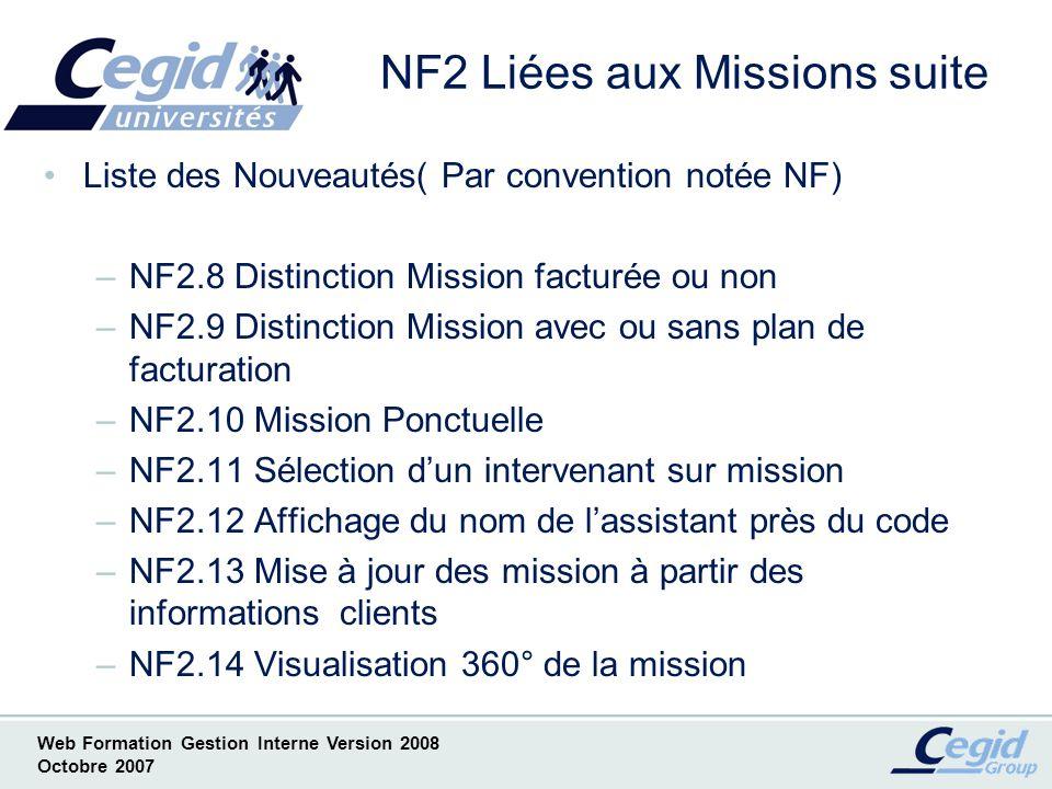 NF2 Liées aux Missions suite