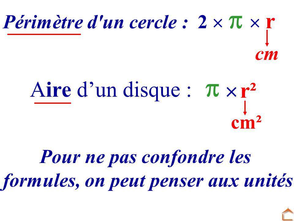 Pour ne pas confondre les formules, on peut penser aux unités