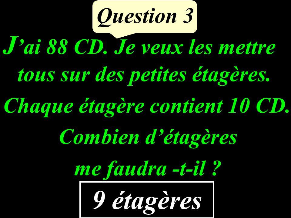J'ai 88 CD. Je veux les mettre tous sur des petites étagères.