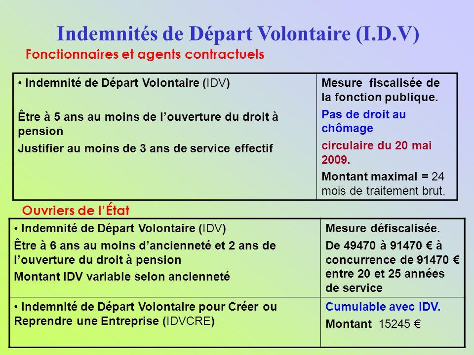 Indemnités de Départ Volontaire (I.D.V)