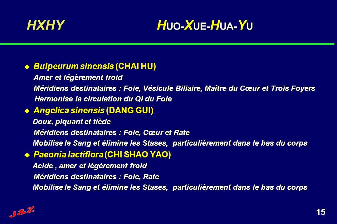 HXHY HUO-XUE-HUA-YU Bulpeurum sinensis (CHAI HU)