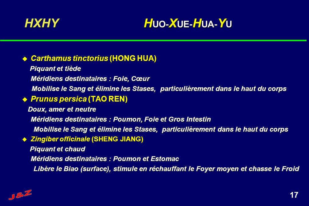HXHY HUO-XUE-HUA-YU Carthamus tinctorius (HONG HUA)