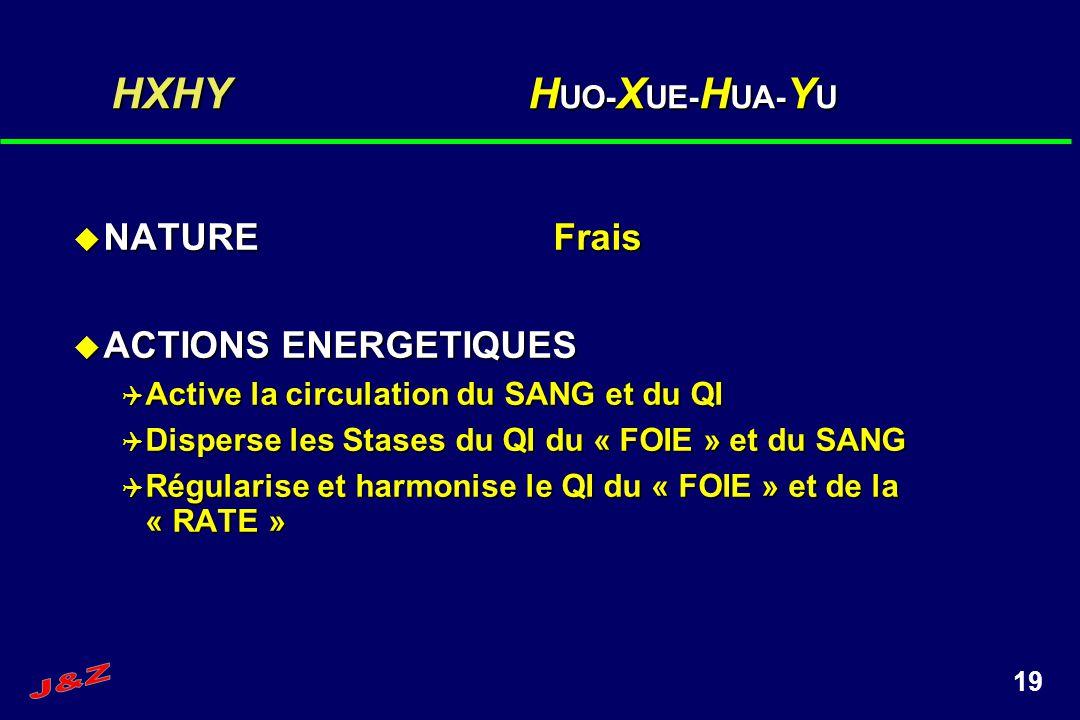 HXHY HUO-XUE-HUA-YU NATURE Frais ACTIONS ENERGETIQUES