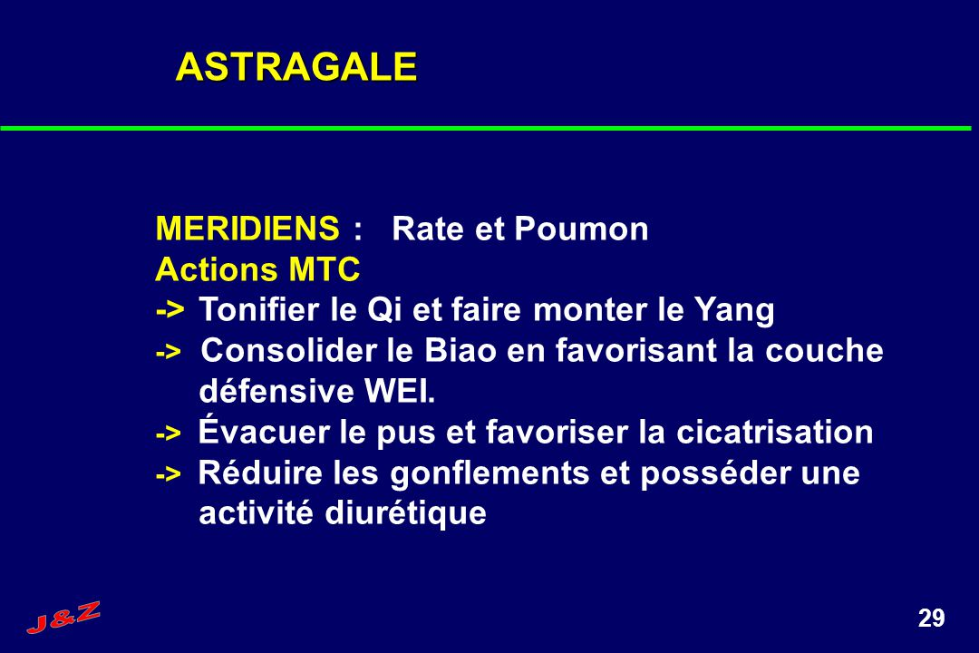 ASTRAGALE MERIDIENS : Rate et Poumon Actions MTC