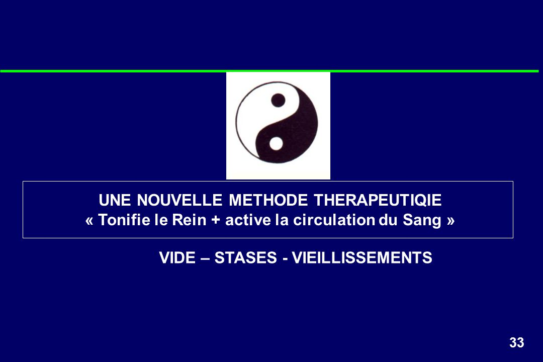 UNE NOUVELLE METHODE THERAPEUTIQIE
