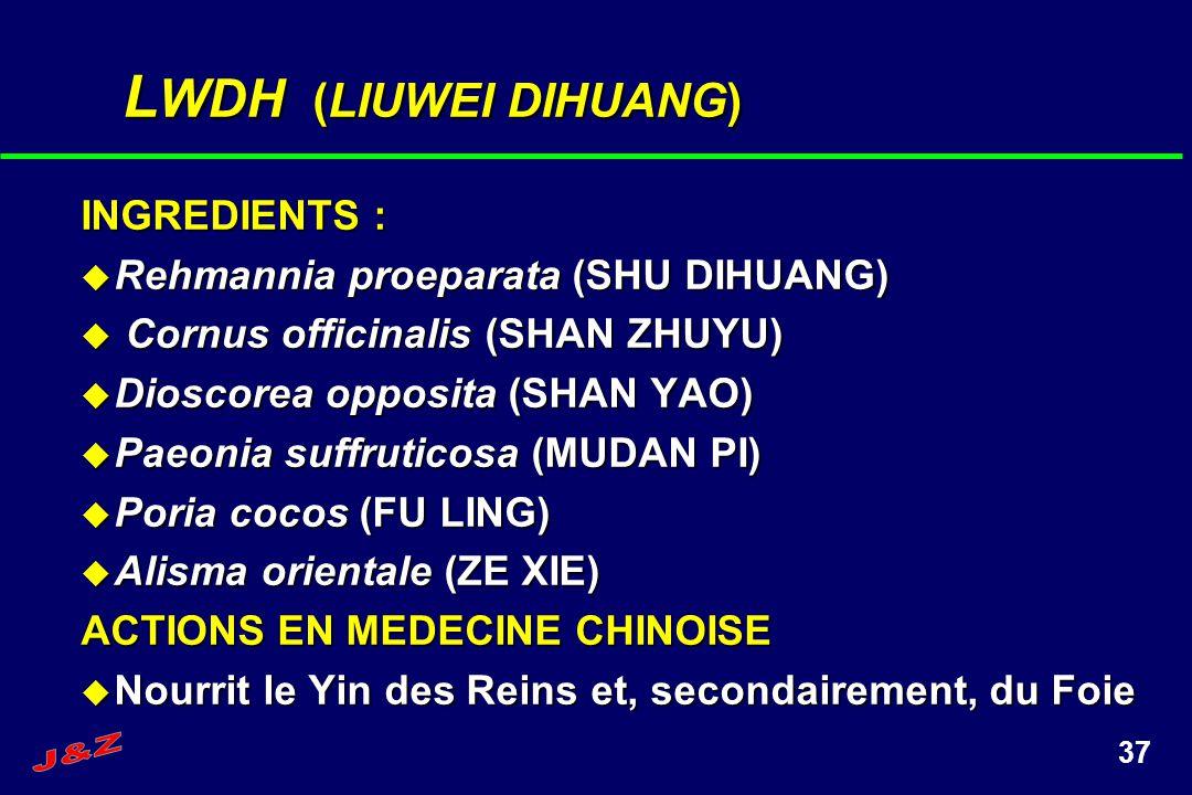 LWDH (LIUWEI DIHUANG) INGREDIENTS : Rehmannia proeparata (SHU DIHUANG)