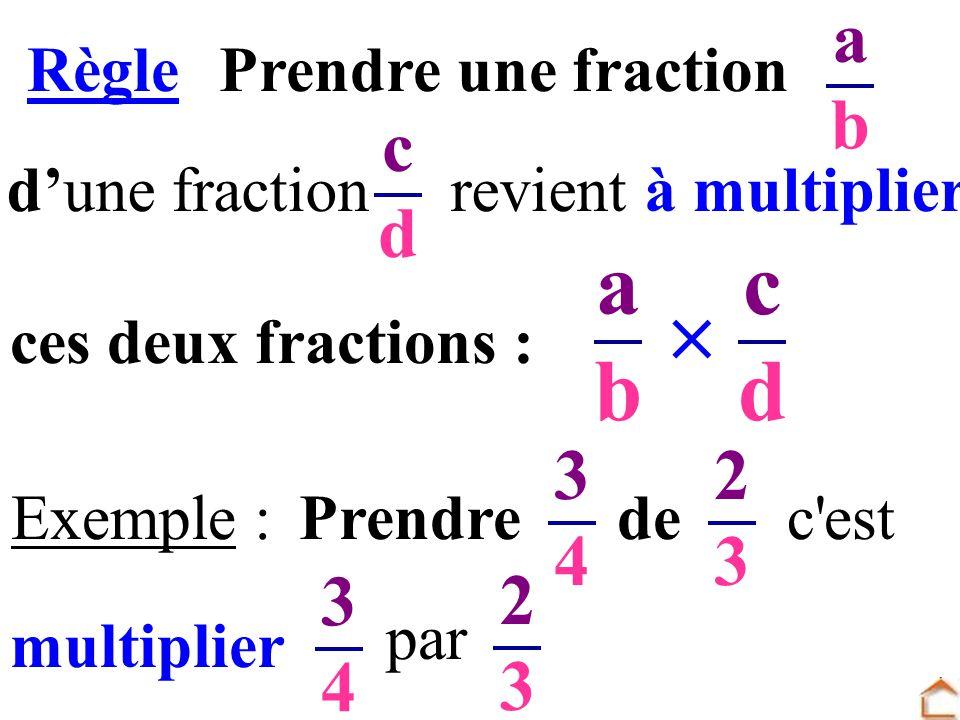 Règle Prendre une fraction