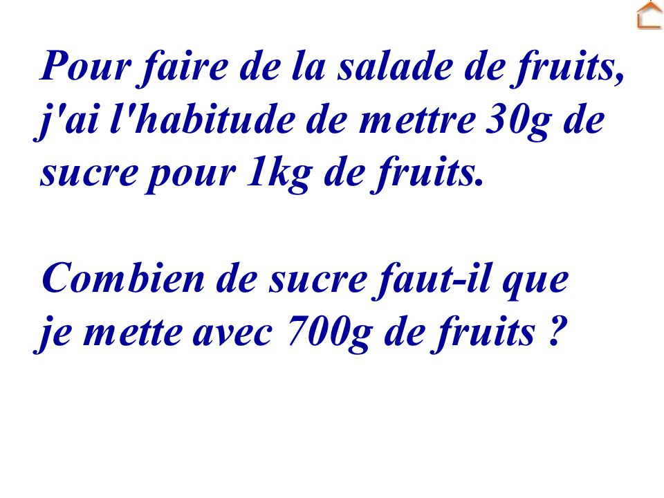 Pour faire de la salade de fruits,