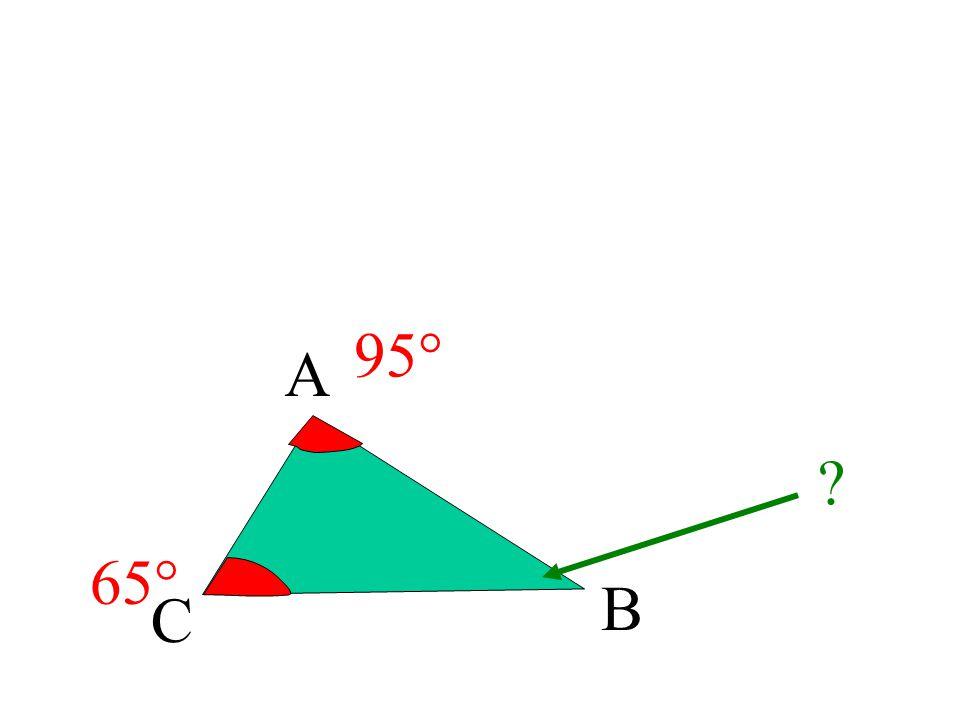 95° A 65° B C