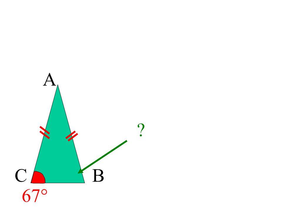 A C B 67°